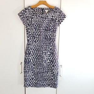 J.crew size 0 printed structured dress
